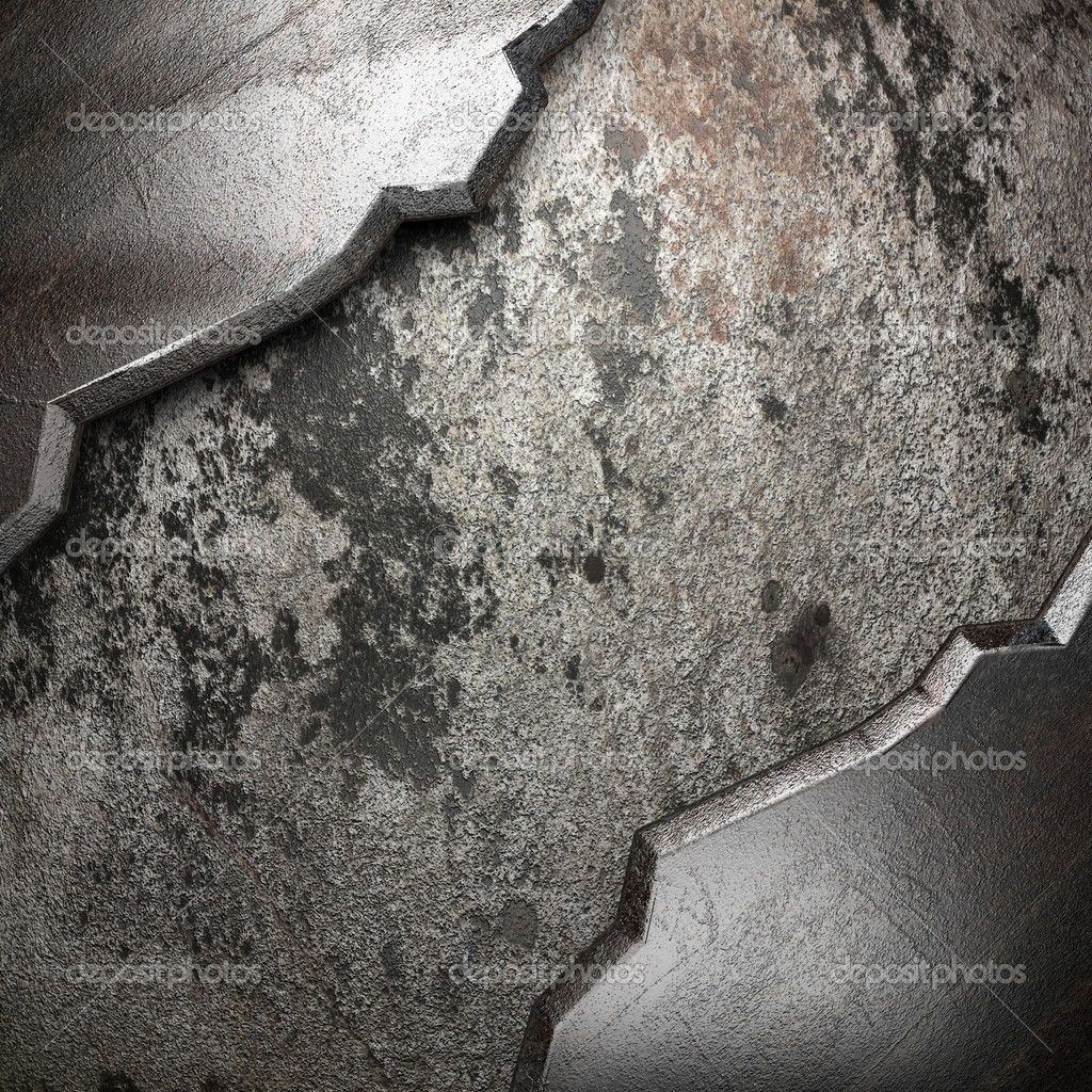 Metal on wall made in 3D — Stock Photo #18567491