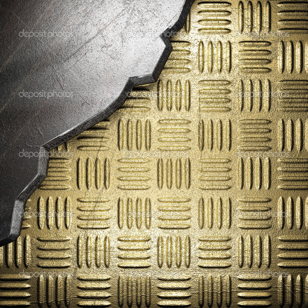 Metal on gold made in 3D — Stock Photo #18567505