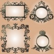 Vector vintage frames set - 
