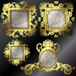 Vector golden frames set - Stockvectorbeeld