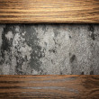 Wood on wall - Foto Stock