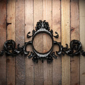 Vintage iron frame — Stock Photo