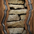Wood on wall - Stockfoto