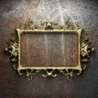 Vintage golden frame - Foto Stock