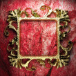 Vintage golden frame - Stock Photo