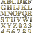 Golden alphabet — Stock Photo
