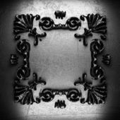 Vintage iron frame — Stock Photo