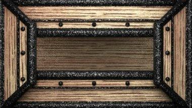 Austria en sello de madera — Vídeo de Stock