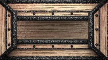 Pérolas no carimbo de madeira — Vídeo Stock