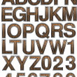 Wooden alphabet set — Stock Photo