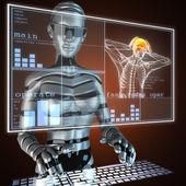 Varredura de radiografia humana — Foto Stock