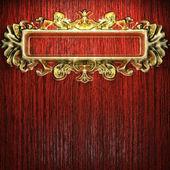 Golden vintage ornament — Stock Photo