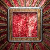 Dřevěná deska na zeď — Stock fotografie