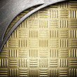 Metal on gold - Foto Stock