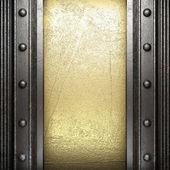 Metaal op goud — Stockfoto
