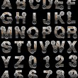 Wooden alphabet with gears - Foto de Stock