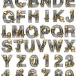 Metal alphabet with skeleton - Stock Photo