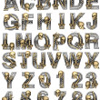 Stock Photo: Metal alphabet with skeleton