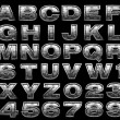 Steel alphabet set — Stock Photo