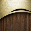 Gold on wood — Stock Photo