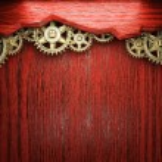 Gear wheels on wood — Stock Photo #21712207