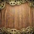 Gear wheels on wood - 