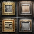 Vector retro frame set - Stock Vector