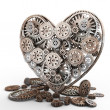 Heart made of gears - Stock Photo