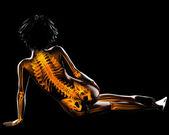 Varredura de radiografia de mulher — Foto Stock