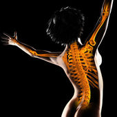 Woman radiography scan — Stock Photo