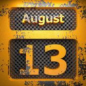 13 sierpnia-stal lakierowana — Zdjęcie stockowe