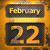22 de fevereiro de aço pintado — Fotografia Stock