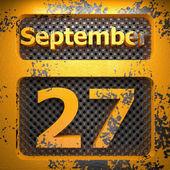 27 september av lackat stål — Stockfoto