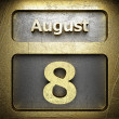 August 8 golden sign — Stock Photo #23197464