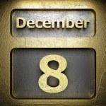 December 8 golden sign — Stock Photo #23197574