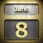 June 8 golden sign — Stock Photo #23198222