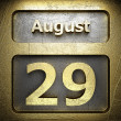 Stock Photo: August 29 golden sign