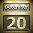 Stock Photo: December 20 golden sign