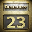 Stock Photo: December 23 golden sign