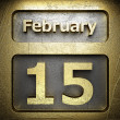 February 15 golden sign — Stock Photo #23197836