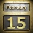 February 15 golden sign — Stock Photo #23197836
