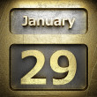 Stock Photo: January 29 golden sign