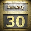 January 30 golden sign — Foto Stock