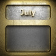 Stock Photo: July golden sign