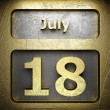 Stock Photo: July 18 golden sign