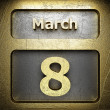 Stock Photo: March 8 golden sign