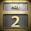 Stock Photo: May 2 golden sign