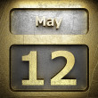 Stock Photo: May 12 golden sign