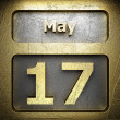 Stock Photo: May 17 golden sign