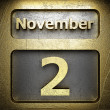 Stock Photo: November 2 golden sign